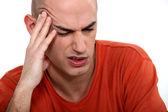 Man having a headache — Stock Photo