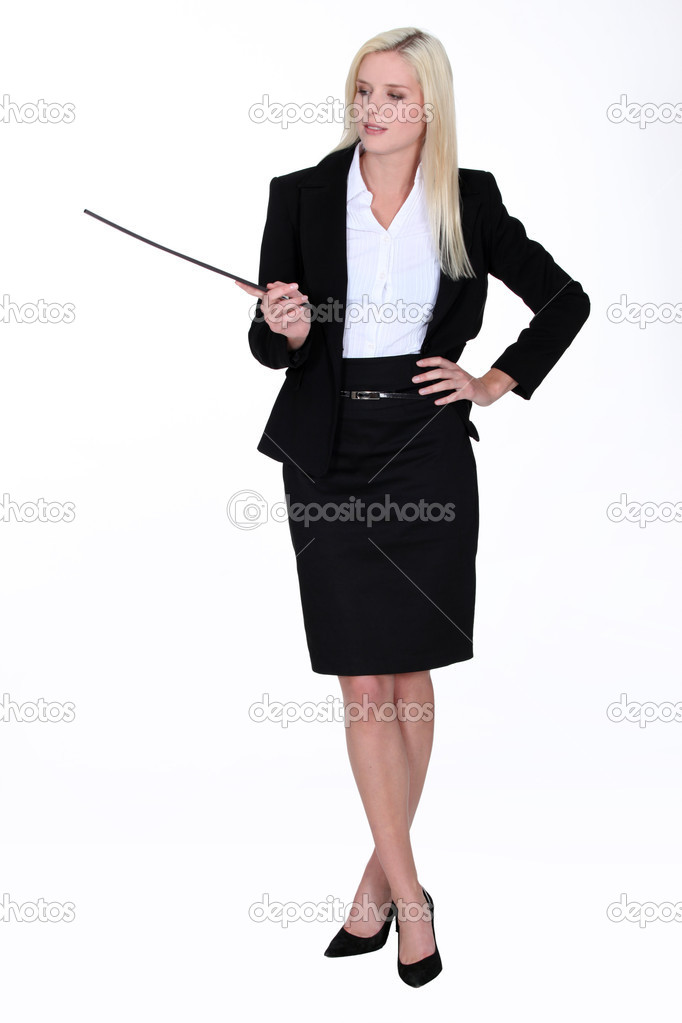 Elegant businesswoman making a presentation  Stock Photo #10158010