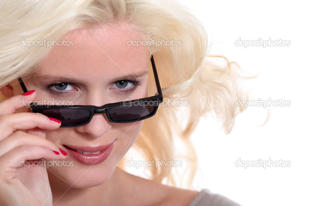 Blonde in sunglasses  Stock Photo #10158205