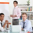 Stock Photo: Young businessmen on a meeting