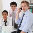 Stock Photo: Young businessmen