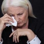 oudere vrouw in pijn — Stockfoto