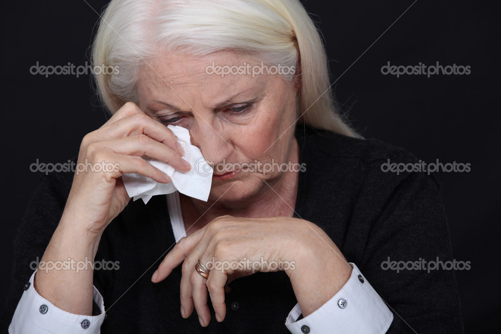 Elderly woman in pain  Stock Photo #10189921