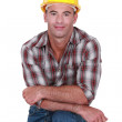 Casual male builder — Stock Photo