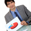 Businessman with a pie chart — Stock Photo #10194022