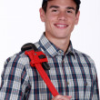 Man with wrench — Stock Photo #10197298