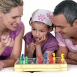 Family playing chess — Stock Photo #10198069