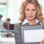 A confident businesswoman — Stock Photo