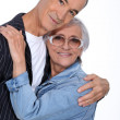 Stock Photo: Elderly couple hugging