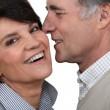 Senior couple embracing — Stock Photo #10198559