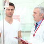 consultazione in ospedale — Foto Stock
