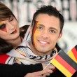 Stock Photo: Couple supporting the German football team
