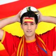 Spanish football fan — Stock Photo