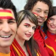 Spanish soccer supporters — Photo