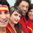 Royalty-Free Stock Photo: Spanish soccer supporters