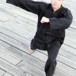 Stock Photo: Mpracticing martial arts