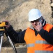 Surveyor on the phone — Stock Photo