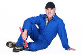 A mature plumber. — Stock Photo