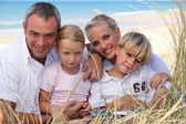 Family Portrait in a dune — Stock Photo