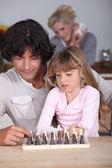 Babası kızı savory ile oynama — Stok fotoğraf