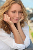 Portrait of dreamy woman — Stock Photo
