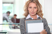 A confident businesswoman — Stock Photo