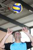 Man playing volleyball — Stock Photo