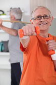 Senior couple deciding to stay fit — Stock Photo