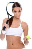 Young woman ready for tennis — Foto de Stock