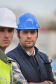 A team of builders — Stock Photo