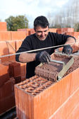 Portrait of a bricklayer — Stock Photo