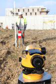 Surveyor working on site — Stock Photo