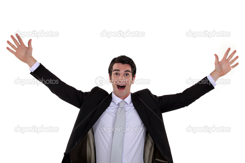 Excited businessman — Stock Photo #10195111