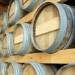 Stock Photo: Barrels stored in cellar