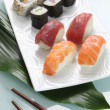 Sushi on plate — Stock Photo #10279227