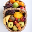 Basket of fruit — Stock Photo