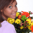Woman florist - Stock Photo