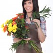 Studio shot of a florist — Foto Stock