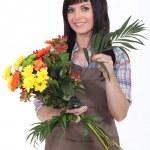 Studio shot of a florist — Stock Photo