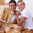 Two bakery workers - Stock Photo