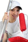 Vrouwelijke schilder-decorateur — Stockfoto