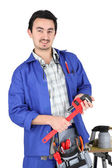 Skilled technician with tools — Stok fotoğraf