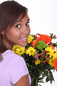 Woman florist — Stock Photo