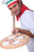 Pizza chef — Stock Photo