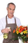 Portrait of a florist — Stock Photo