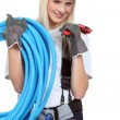 Stock Photo: Female plumber