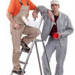 Two painters — Stock Photo