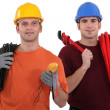 An electrician and a plumber. — Stock Photo