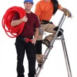 Two electricians working together — Stock Photo #10326445