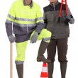 Portrait of a team of construction workers — Stock Photo